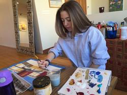 Maddie Williamson painting