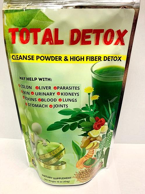 TOTAL DETOX Cleanse Powder & High Fiber Detox