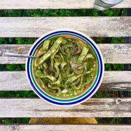 Homemade Pasta & Pesto