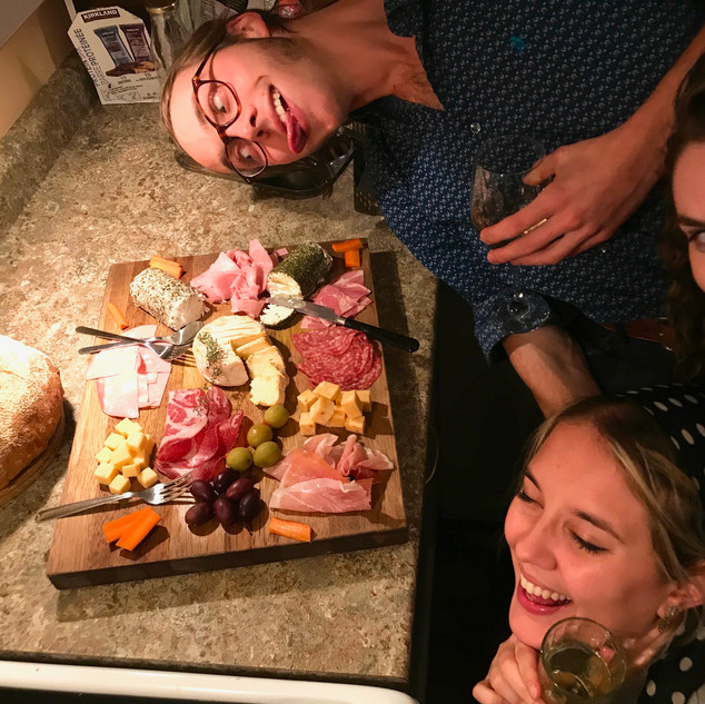 Cheese board with friends