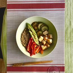 Tofu, Quinoa and Veg