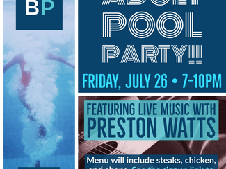 Adult Pool Party, July 26