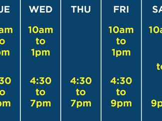 REVISED Back to school pool hours!