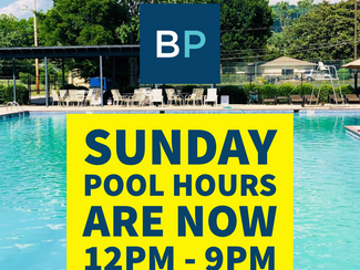 Sunday Hours have changed!