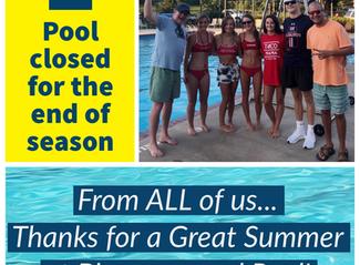 Pool Closed for the Season