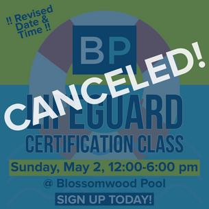 Lifeguard Certification Class - CANCELED