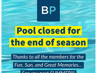 Pool closed, End of Season