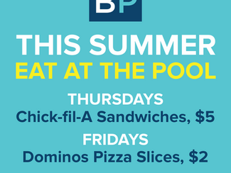 Eat at the Pool!!