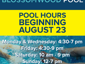 Adjusted Pool Days, Beginning August 23!