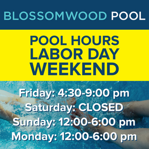 Pool Hours for Labor Day Weekend