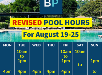 Pool Hours, August 19-25