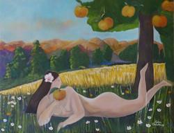 Eve - Acrylique sur toile - 90 x 70 cm (