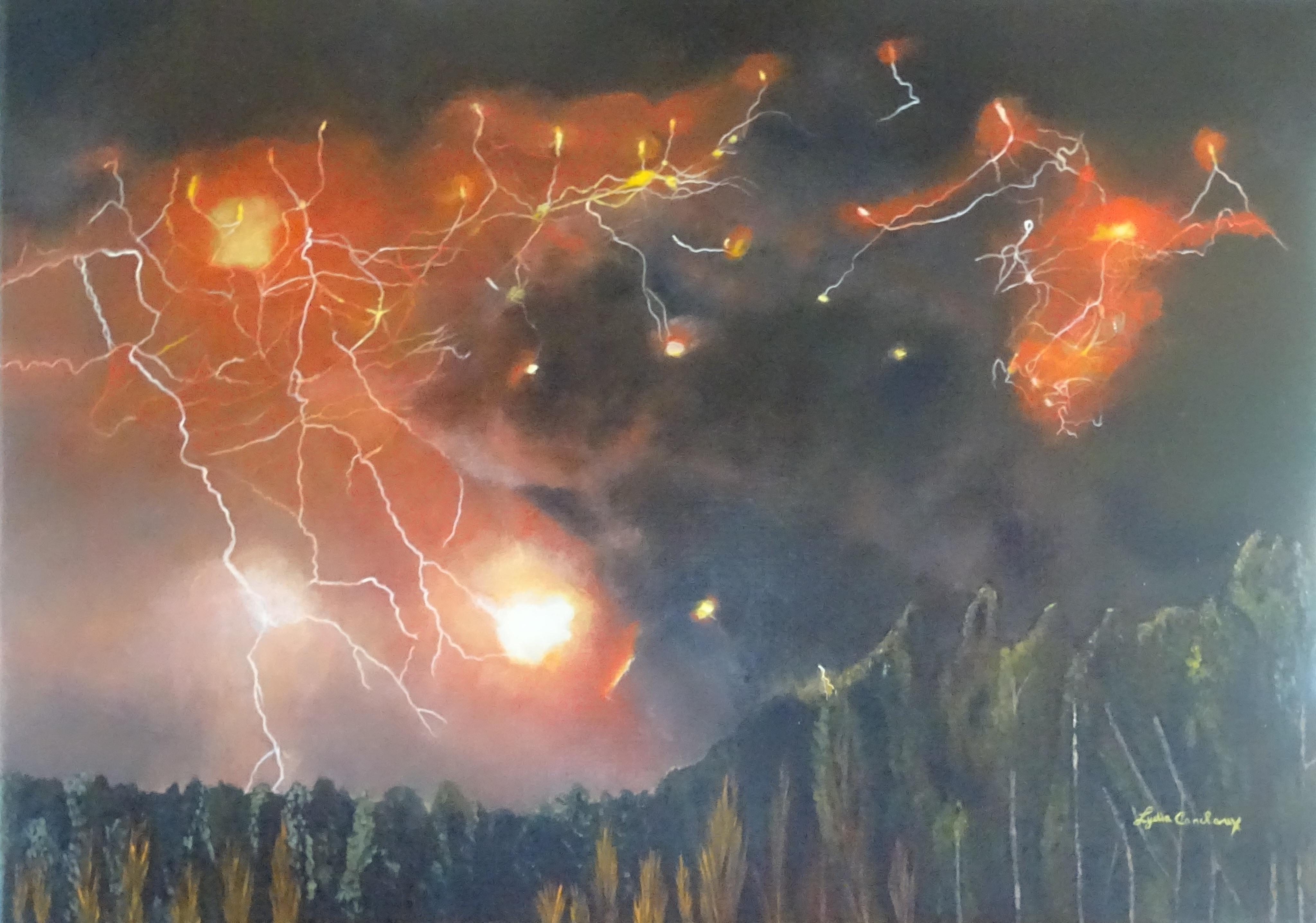 Mars - huile sur toile - 50 x 70 cm