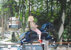 GIRL ON IRON HORSE