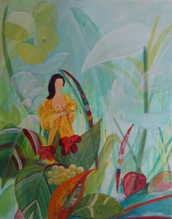 Zen 100 x 80 cm Acrylique sur toile- jui