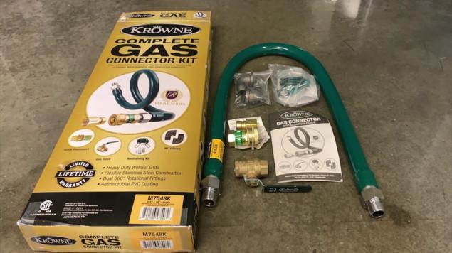 Krowne Metal Complete Gas Connector Kit