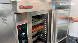 Market Forge Sirius II Gas Boilerless Convection Steamer: Cabbage, Carrots and Broccoli