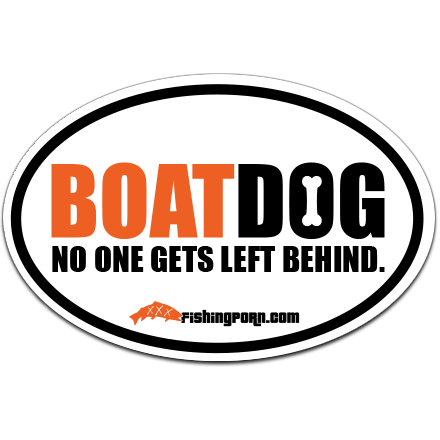 """Boatdog 4""""x6"""" Decal"""