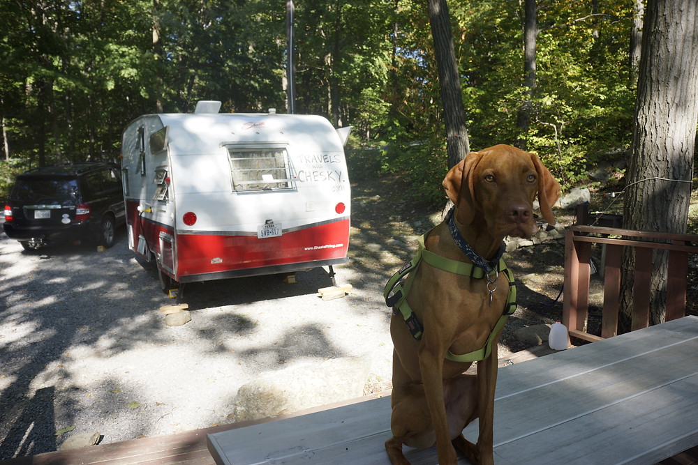 At the West Point campsite