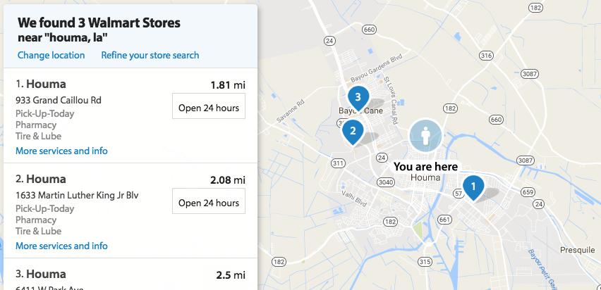 Walmart.com Store Locator