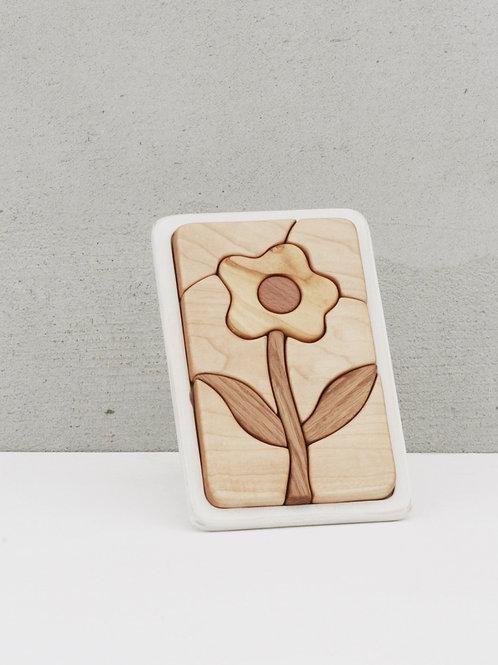 Tateplota - Holzpuzzle Blume - Flower