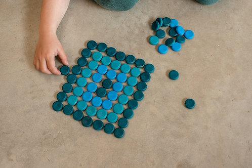 Grapat - Mandala Blue Coins