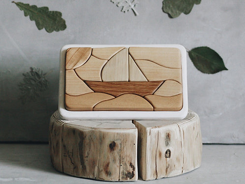 Tateplota -  Holzpuzzle Boot - Boat