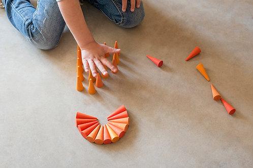 Grapat - Mandala Orange Cones