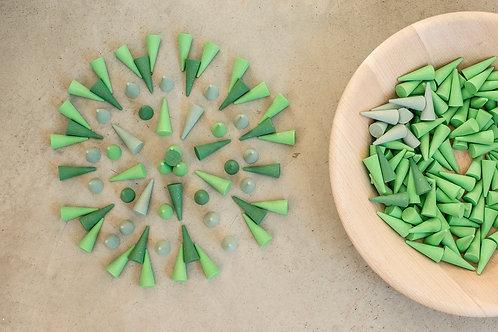 Grapat - Mandala Green Cones
