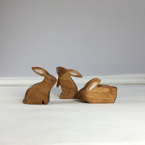 Brin d'Ours - Brown Rabbit Set (Set of 3)