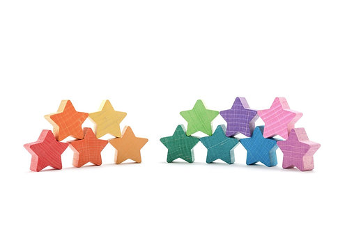 Rainbow Stacking Stars - Set of 12