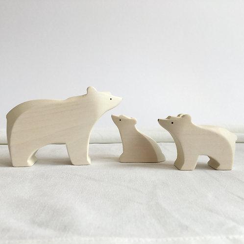Brin d'Ours - Polar bear family