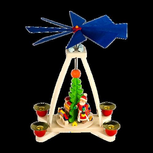 Tischpyramide mit Weihnachtsmann