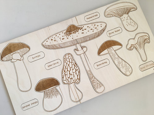 "Holzpuzzle ""Spring Up Like Mushrooms"""
