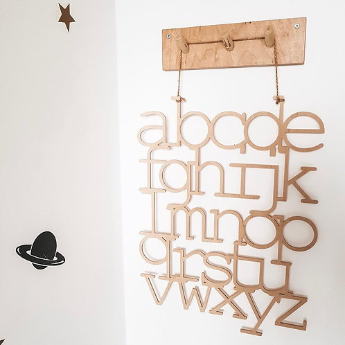 Alphabet ABC Holz Sperrholz Wanddecor