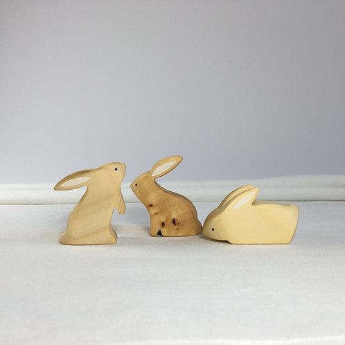 Brin d'Ours - Natur Rabbit set (Set of 3)