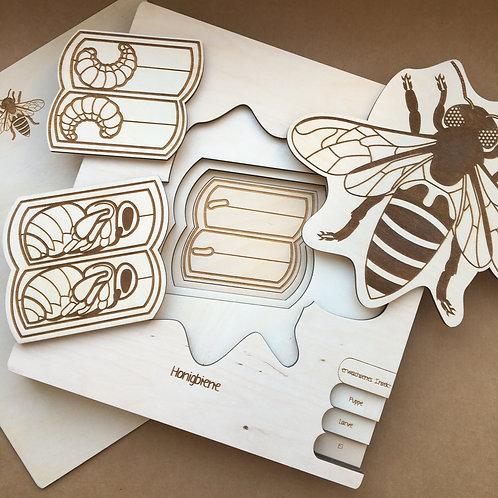 "Holzpuzzle ""Honey Bee"""