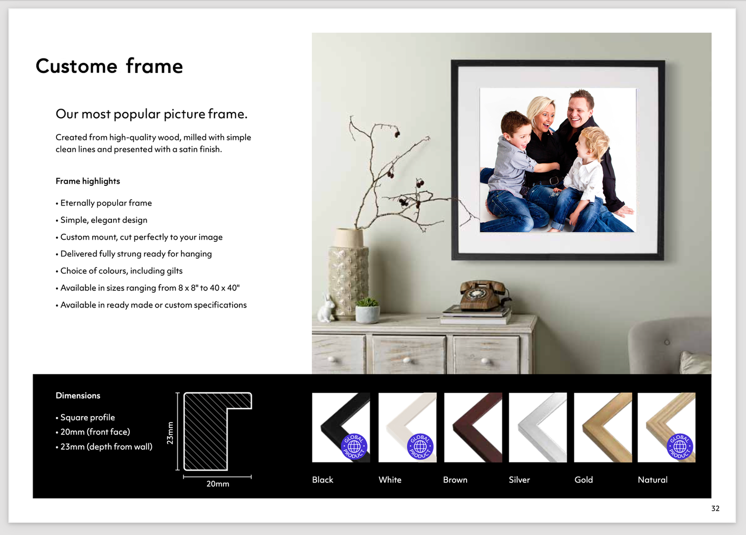 Custome Frames