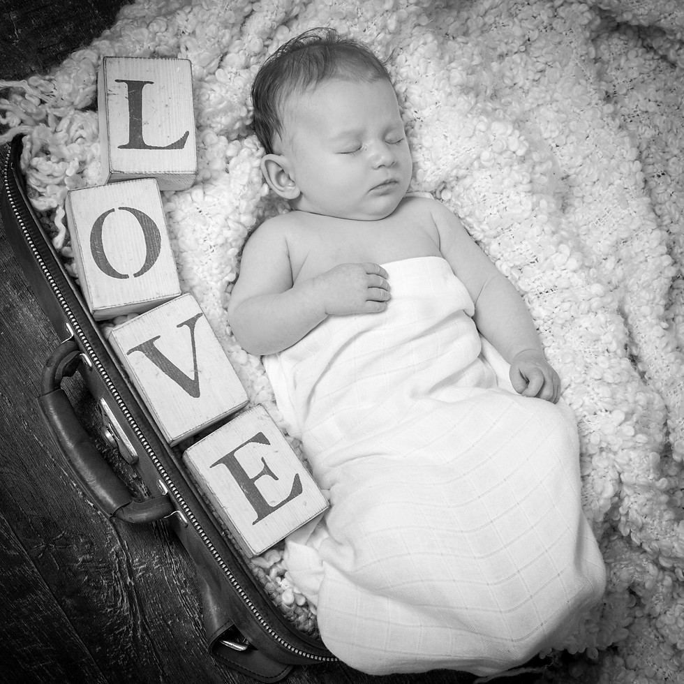 Life Photographic Baby Photography Nottingham  studio love heart in suit case