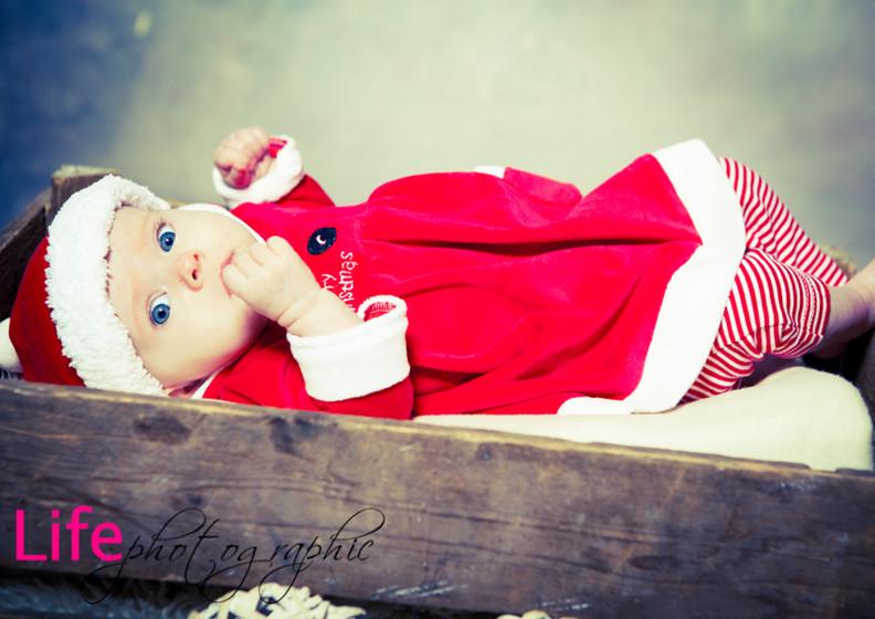 Life Photographic christmas Baby Photography Nottingham  studio