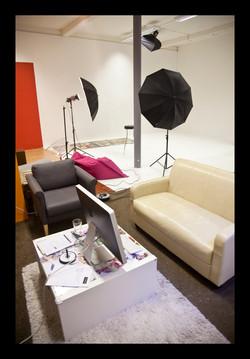 Studio chilling area