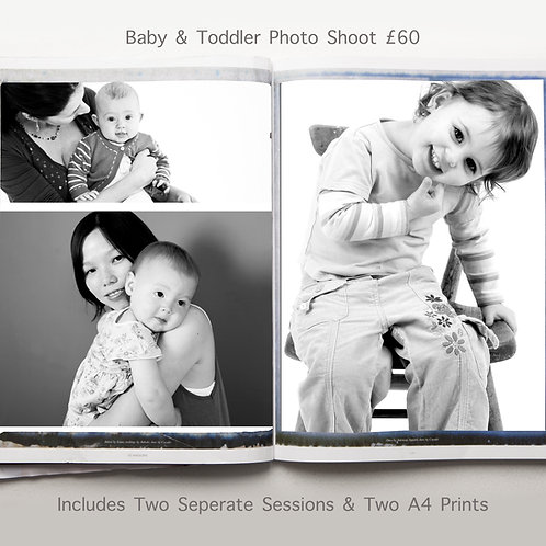 Baby & Toddler Photo Shoot (Two Sessions)