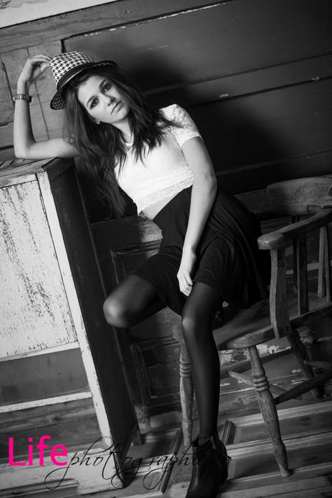 Life Photographic fashion B&W model portfolio Photography Nottingham studio
