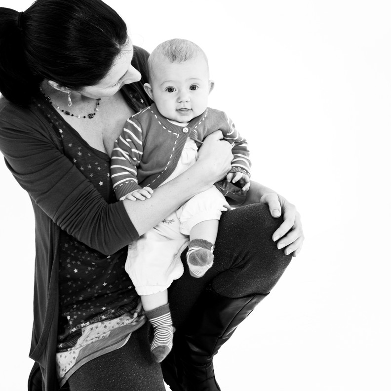 Life Photographic Baby & mother Photography B&W Nottingham  studio