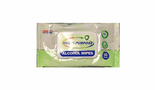 Antibacterial Alcohol Wipes (50 wipes/pack)