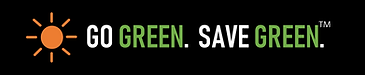 Go Green Save Green in std banner format
