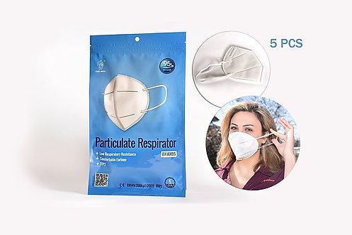 KN95 Particulate Respirator (5pcs/bag)
