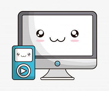 icone-de-tecnologia-de-desenho-animado-k