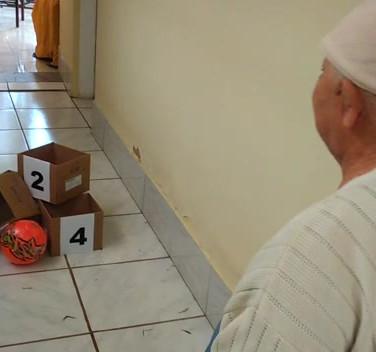 Bolas de guizo para os idosos do Vincular