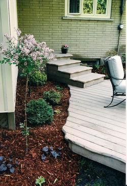 Cedar Deck with Scalloped Edges